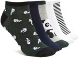 Forever 21 FOREVER 21+ Panda Ankle Socks - 5 Pack
