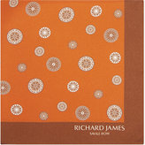Richard James Compass Print Silk Pocket Square