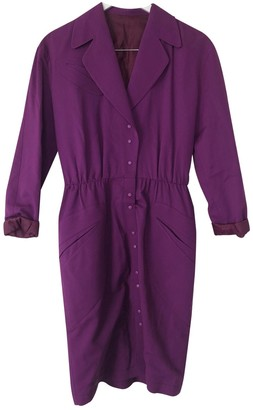 Thierry Mugler Purple Wool Dresses
