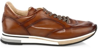Dunhill Patina Leather Low-Top Sneakers