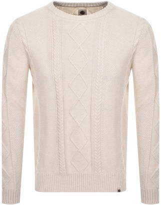 Pretty Green Cable Knit Jumper Cream