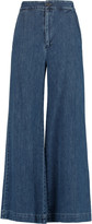 Sea High-rise cropped flared jeans