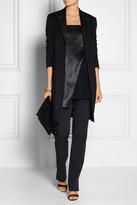 Reed Krakoff Satin and stretch-crepe top