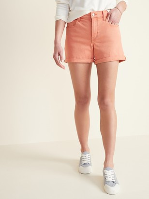 Old Navy Mid-Rise Pop-Color Boyfriend Jean Shorts for Women -- 3-inch inseam