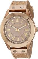 Vince Camuto Women's VC/5258RGTN Swarovski Crystal Accented Tan Silicone Strap Watch