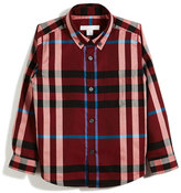 Burberry Fred Mini Long-Sleeve Check Shirt, Red, Size 4-14