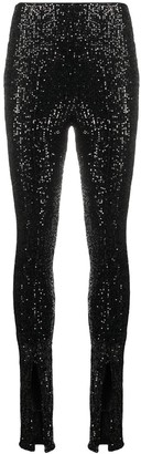 Rotate by Birger Christensen Sequin Embroidered Front Slit Trousers