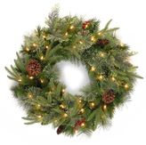National Tree Company 24-in. Pre-Lit Dual Color Artificial Pine Christmas Wreath