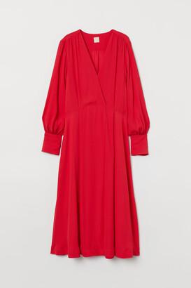 H&M Calf-length Dress - Red
