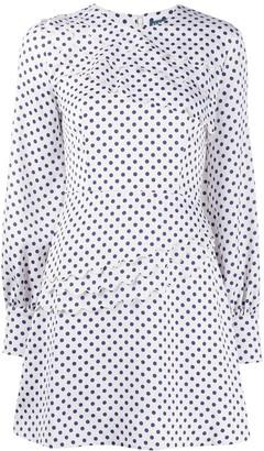 ALEXACHUNG Polka Dot Flared Dress