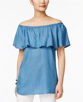 Style&Co. Style & Co Denim Off-The-Shoulder Top, Created for Macy's