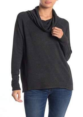 Philosophy di Lorenzo Serafini Cowl Neck Angled Fleece Long Sleeve T-Shirt