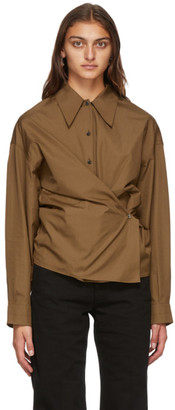 Lemaire Brown Twisted Shirt