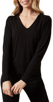 French Connection V Neck Puff Sleeve T Shirt