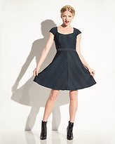 Betsey Johnson Two Tone Wide Ribbed Dress