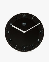 Braun BNC006 Analog Wall Clock Black in Black