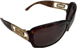 Bvlgari Brown Plastic Sunglasses