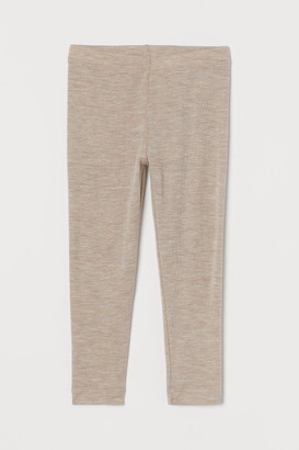 H&M Wool Leggings - Brown