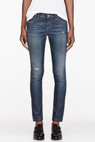 IRO Navy faded & distressed Jeans