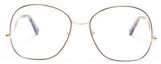 Chloé Willis Round Metal Glasses - Womens - Rose Gold