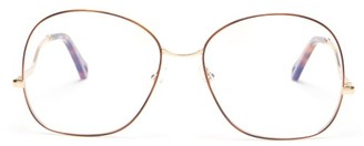 Chloé Willis Round Metal Glasses - Womens - Rose Gold