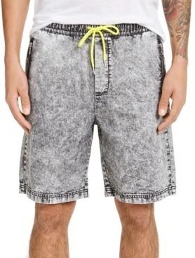 INC International Concepts Inc Men's Black Drawstring Denim Shorts, Created for Macy's