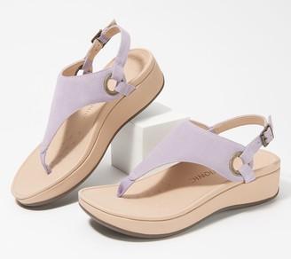 Vionic Suede T-Strap Sandals - Jolie