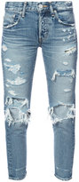 Moussy distressed cropped jeans - women - Cotton - 24