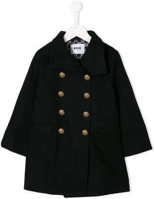 Msgm Kids Double-Breasted Coat