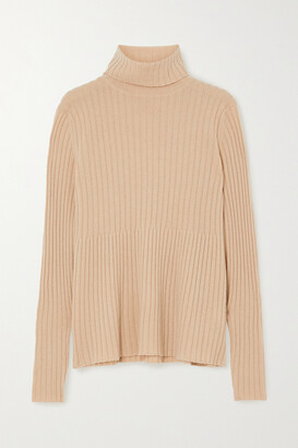 Allude Ribbed Cashmere Turtleneck Sweater