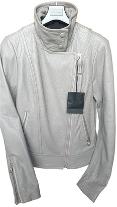 Mackage Grey Leather Leather Jacket for Women