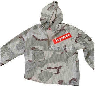 Supreme Beige Synthetic Jackets