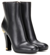 Prada Embellished leather ankle boots