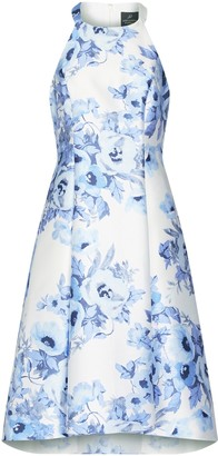 Adrianna Papell Toile Floral High-low Dress