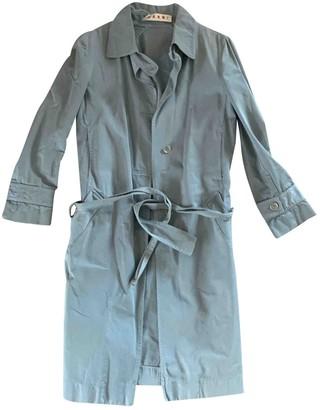 Marni Khaki Cotton Trench Coat for Women