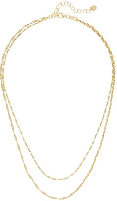 Argentovivo Double Layered Chain Necklace
