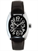 Montres de Luxe Women's BI3 NER Bisanzio Stainless Steel Luminous Black Leather Date Watch