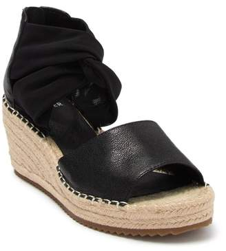 Eileen Fisher Wiley Knot Espadrille Leather Wedge Sandal