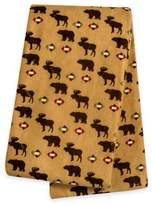 Trend Lab Northwoods Bear and Moose Deluxe Flannel Swaddle Blanket