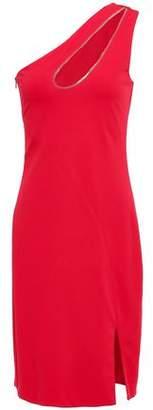 HANEY One-shoulder Cutout Ponte Mini Dress