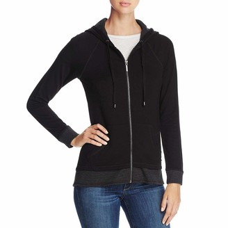 Calvin Klein Women's Zip Hoodie with Stripe Thermal