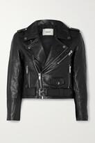 Thumbnail for your product : Deadwood + Net Sustain Joan Leather Biker Jacket - Black