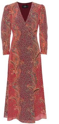 Etro Paisley silk midi dress
