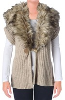 Lauren Ralph Lauren Womens Wool Blend Faux Fur Casual Vest
