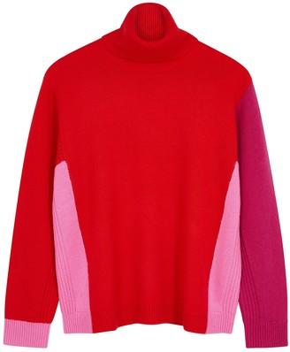 Diane von Furstenberg Apple roll-neck wool-blend jumper