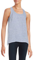 Lord & Taylor Striped Chambray Tank