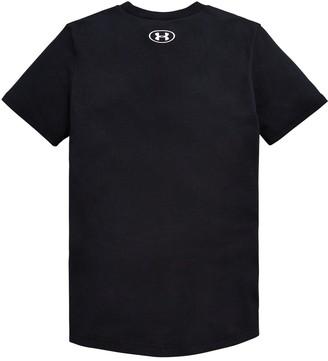 Under Armour ChildrensSportstyle Left Chest Short Sleeved T-Shirt - Black White