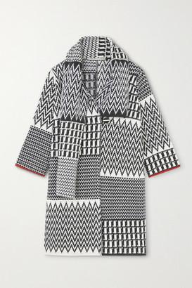 Stella McCartney Jacquard-knit Virgin Wool Coat - Black