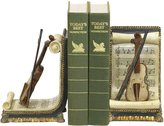 Sterling Home 91-1613 Pair of Bookends, Violin and Sheet Music, 7-1/2-Inch Tall