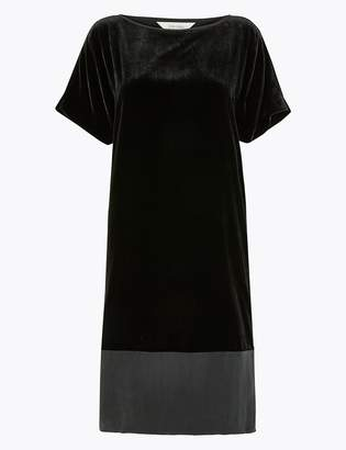 Per Una Per UnaMarks and Spencer Velvet T-Shirt Midi Dress